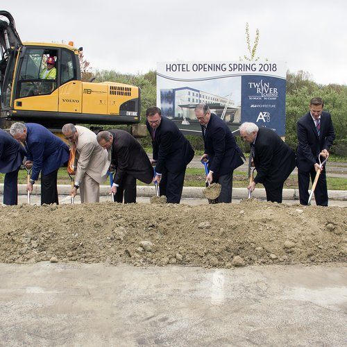 JCJ, Twin River break ground on 135-room hotel