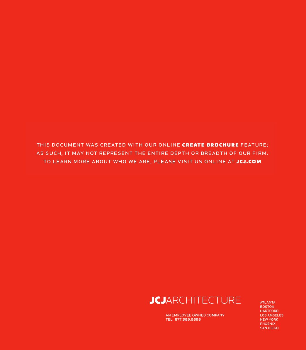JCJ Architecture Brochure Back Cover