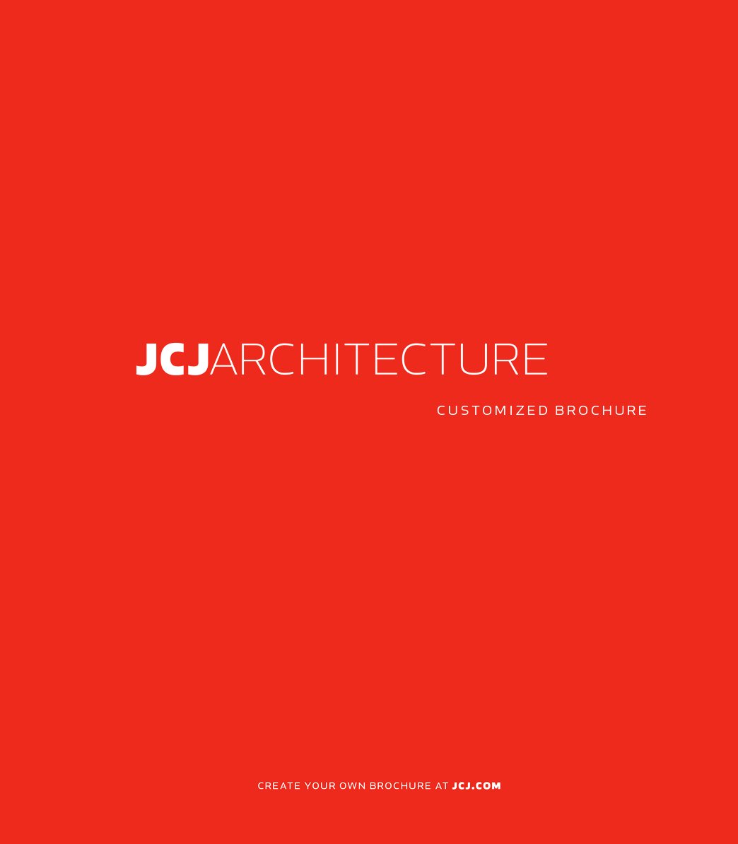 JCJ Architecture Brochure Front Cover